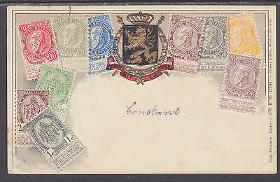 Zieher used PPC. Stamps of Belgium, Embossed to Anvers