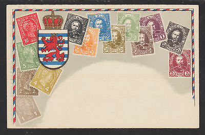 Zieher #23 unused PPC. Stamps of Luxembourg, flat