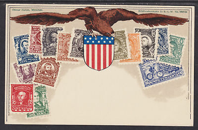 Zieher unused PPC. Stamps of United States, Flat