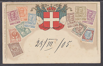 Zieher #9 used PPC. Stamps of Italy, Embossed