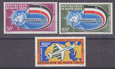 Burkina Faso Sc C5/C8 MNH. 1962 + 1963 Air Post, 2 cplt sets