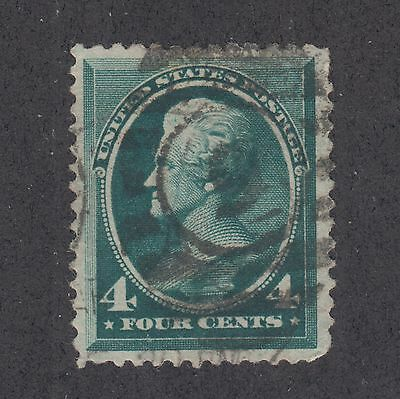 US Sc 211 used 1883 4c blue green Jackson, VF appearing