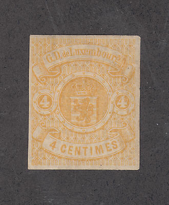 Luxembourg Sc 6 MLH. 1860 4c yellow Coat of Arms