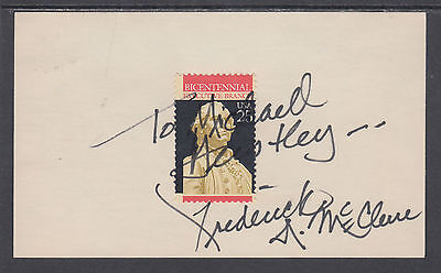 Frederick McClure, Special Assistant to Reagan, signed Executive Branch stamp