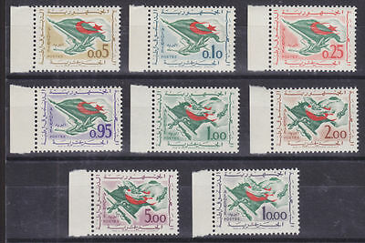 Algeria Sc 296-303 MNH. 1963 Flags, Matched Sheet Margin cplt set, VF+