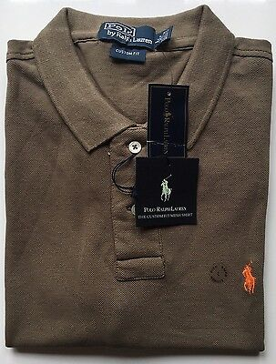 New Mens Polo Ralph Lauren Polo T Shirt Short Sleeve Grey Size Large RRP £89.00