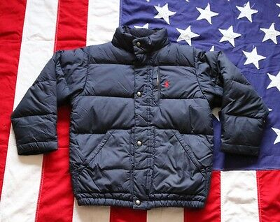 WARM! POLO RALPH LAUREN Boys SIZE 6 Down Jacket Coat Puffer NAVY BLUE Red