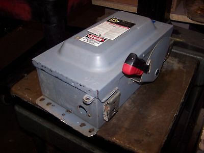 Square D 60 Amp Non-Fusible Safety Switch Nema 3R Outdoor 600 Vac Hu362Awk