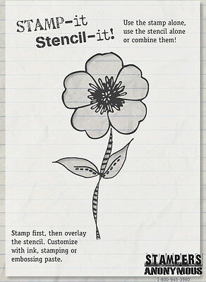 STAMPERS ANONYMOUS Cut Mounted FRESH & FUNKY Stamp It Stencil It SISI003 Flowers