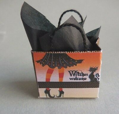 DOLLHOUSE MINIATURE ~ HALLOWEEN SHOPPING BAG by LORRAINE SCUDERI
