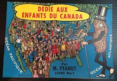 R1816.Mr. Peanut coloring book #1 canadian French issue 1950s