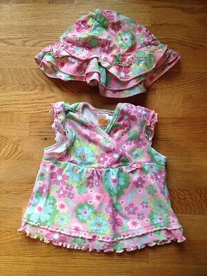 Baby Girls Top And Hat Set, Age 0-3 Months (next Style)