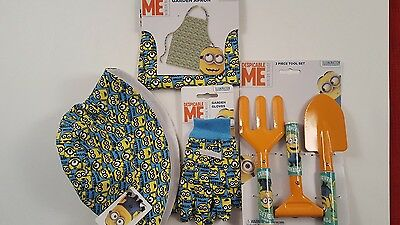Despicable Me Kids Garden Apron, Hat, Gloves and 3 Piece Tool Set