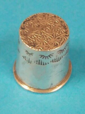 Unusual Unmarked Antique Sterling Silver Thimble