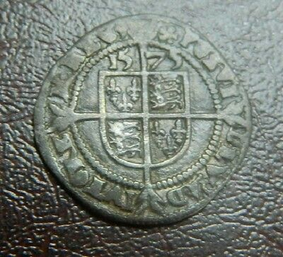 High Grade Tudor Period 1575 Elizabeth 1St Silver Threepence Rose Beside Bust 3P