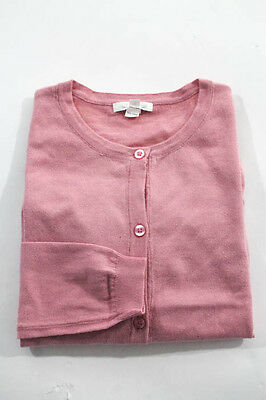 Marie Chantal Girls Pink Long Sleeve crew Neck Cardigan Sweater Size 12