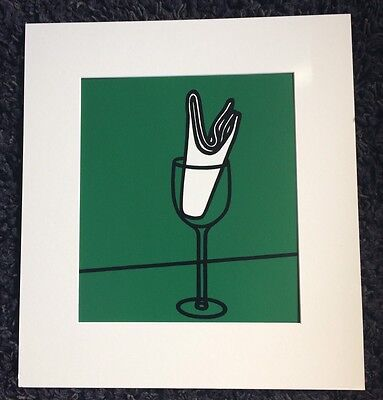 "PATRICK CAULFIELD RA ""Her handkerchief swept me along.."" limited ed SCREENPRINT"