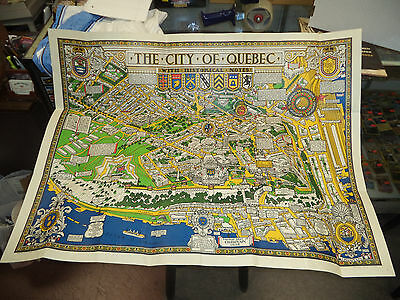 Vintage Map of Quebec by S.H. Maw 1932 w/Sleeve