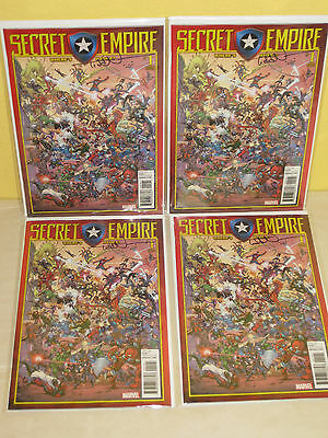 SECRET EMPIRE #1 - Color Party Variant - WHERE's HYDRA Signed TODD NAUCK  Marvel