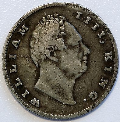1835 Silver British East India Company One Rupee William III Coin (LV#610)