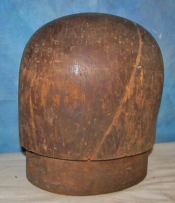 Vintage 2 Piece Puzzle Wood Hat Blocker/Stretcher Millinery Haberdashery J00297
