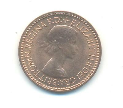 Very Nice Rare.british.farthing.1953.unc/bu.very Collectable.d.84