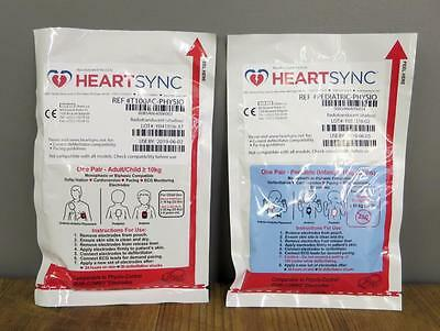 NEW Physio Control HeartSync Adult & Pediatric Lifepak Electrode Pads