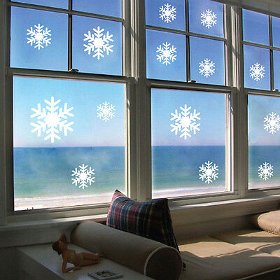 Christmas Wall Sticker Frozen Snow Flakes Vinyl Art Quote Window Decal Removable