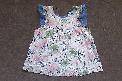 Gorgeous Baby Girls Butterfly & Dragonfly Printed Smock Top age 18-24 months