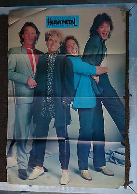 Vintage 8 page fold out magazine poster 2 sided - Van Halen / Twisted Sister