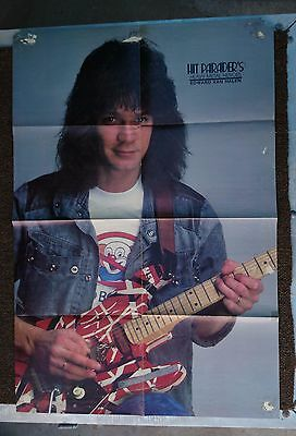 Vintage 8 page fold out magazine poster 2 sided - Van Halen / R Rhoads