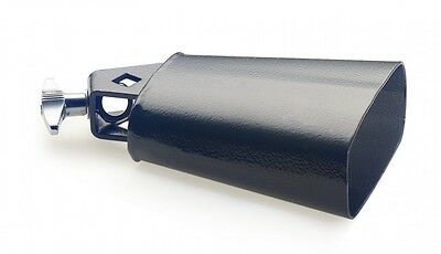 Stagg Model CB309BK - 9.5 Inch Cowbell, Black for Drum Set w/Mounting Screw