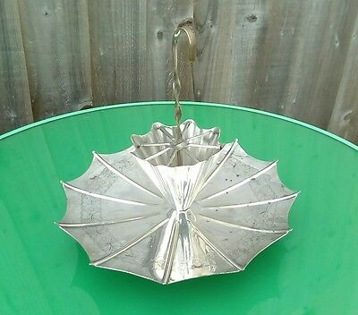 Vintage Silver Plated Umbrella Shaped Cup Cake Stand by Yeoman