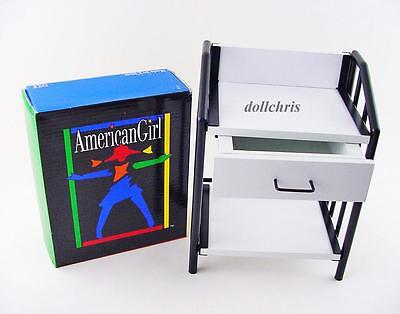 1995 American Girl Doll Nightstand authentic for Bunk Beds NEW Box Wht Blk Metal
