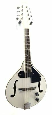 Lucky Penny Model LPM50E/WH White Acoustic/Electric 'A' Style Mandolin