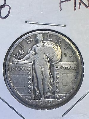 1918 Standing Liberty Quarter Coin Estate Find