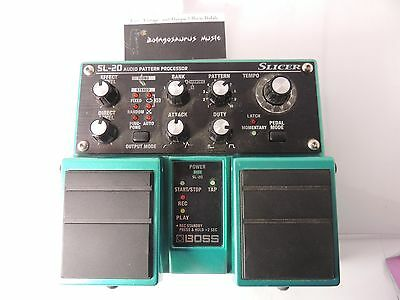 Boss Sl-20 Slicer Audio Pattern Processor Effects Pedal Free Usa Shipping