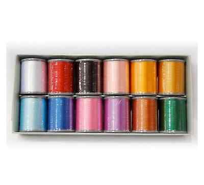 Brother Embroidery Machine Embroidery Threads BOX OF 12 - B242