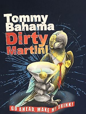 Tommy Bahama Relax T - Shirt  XL Short Sleeve Cotton Blue Parrot Martini Graphic