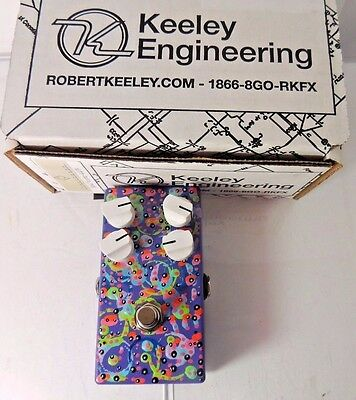 New Keeley 4-Knob Compressor C4 Effects Pedal Rare Laura Bennett Hand Painted