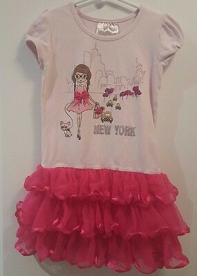 BEAUTEES Girls Size 5 Tutu Dress New York Party Fancy Spring/Summer Lot 10-9