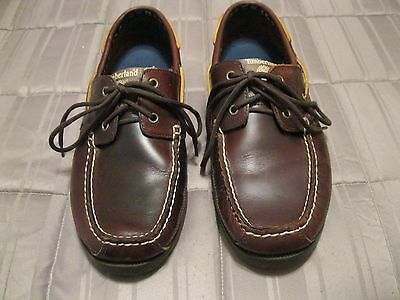 Timberland Earthkeepers, Men's Size 11 Brown Leather Boat Shoes