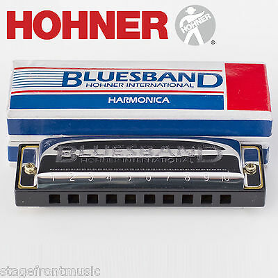 HOHNER BLUES BAND HARMONICA IN BOX CASE – Key C. GREAT FOR BEGINNERS - NEW