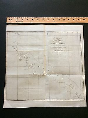 1788 Rare Map Of Southern Pacific Ocean Sea Chart Original New South Wales.