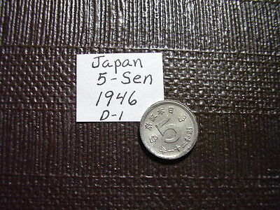 From Old Japan  5 Sen  1946     Closeout Sale    Lot D-1