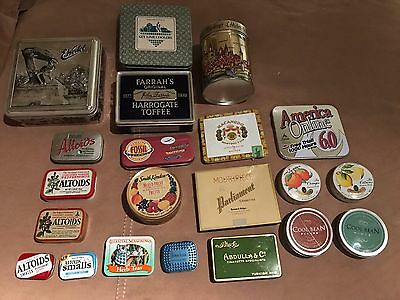 Lot of 21 collectible tin boxes some old some new