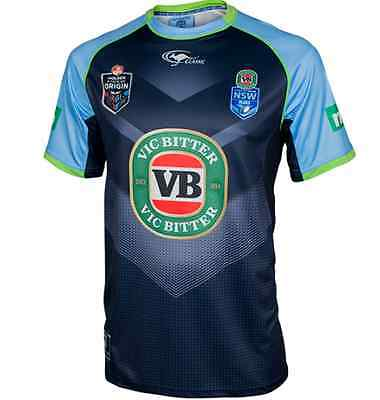 New South Wales Blues 2016 State Of Origin Players Training T Shirt Size S-5XL!