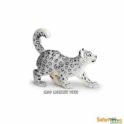 SNOW LEOPARD CUB baby Safari Ltd # 237629  Asian Wild Animal Replica  NWT