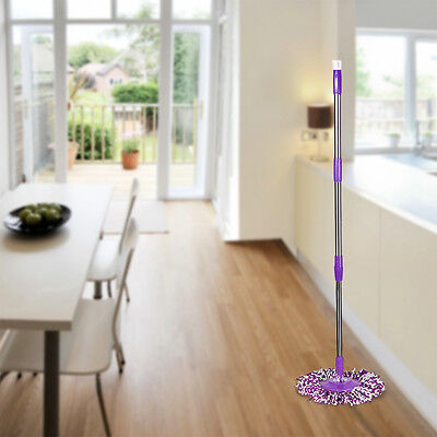 Spin Mop Pole Handle Replacement for Floor Mop 360 No Foot Pedal Version Purple