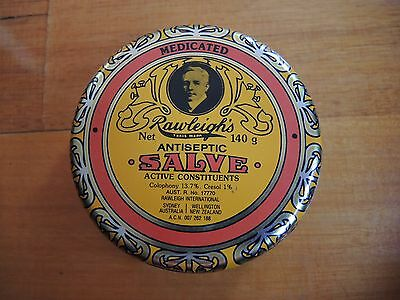 Rawleighs empty Antiseptic Salve 140g Vintage Tin In very good condition